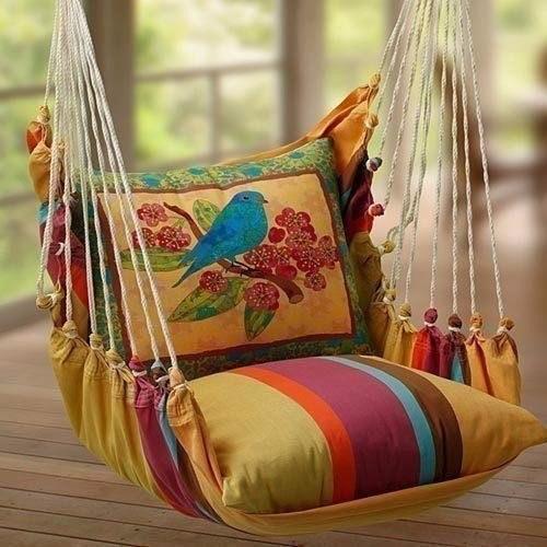 Мягкое кресло-качеля в доме или на даче!