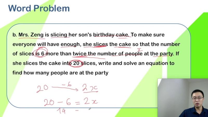Solving Equation Chữa bài tập online - Toán Tiếng Anh Lớp 6