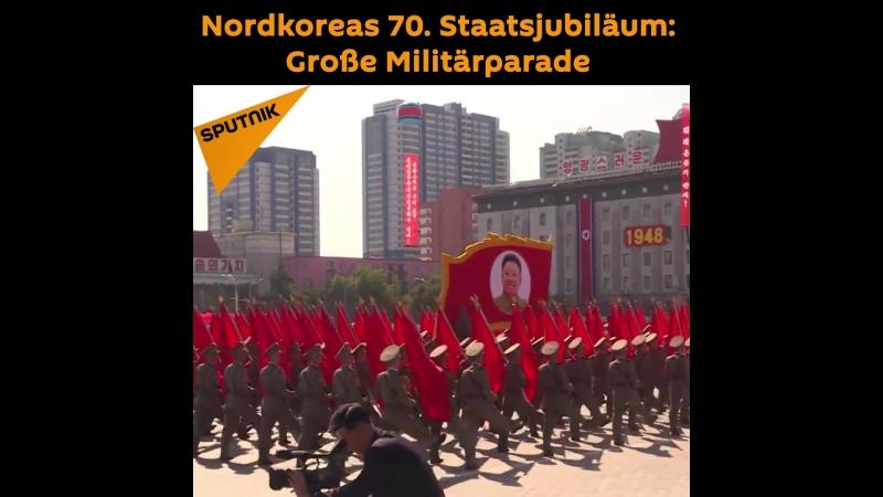 Nordkorea feiert sein 70. Staatsjubiläum mit einer Parade