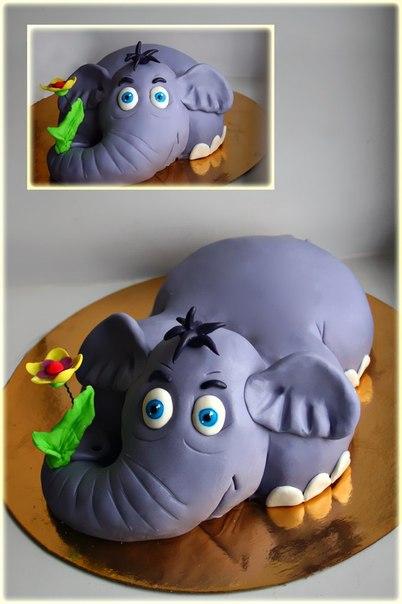 Фото торта в форме слона
