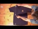 Как быстро сложить футболку mp4