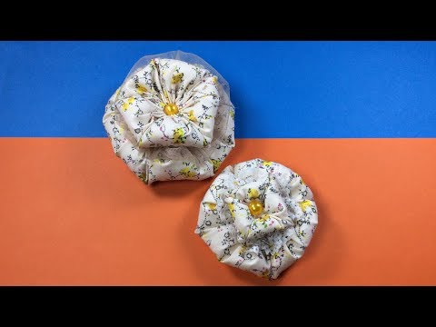 Flor de fuxico para iniciantes - fofinha e fácil - DIY