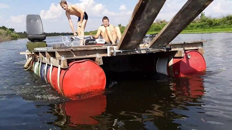 ШОК Самоходный плот Поплыли на мотоблоке