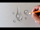 Como Desenhar Gotas de Água Realista How to Draw Realistic Water Drops