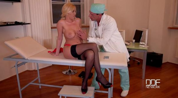 DDFBusty – Dona Bell – Doctor's Fuckpointment – Blonde Patient Gets Jizzed On Big Tits