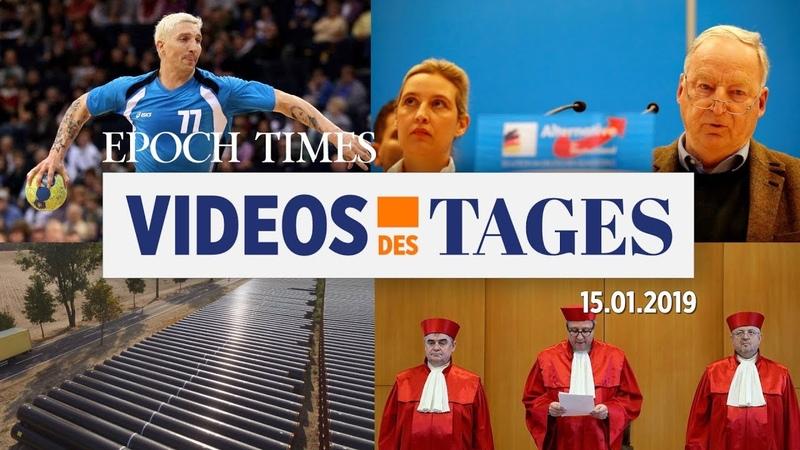Videos des Tages: Fehlende Redefreiheit, Prüffall AfD, CDU-Parteienfinanzierung mehr