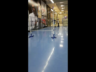 Прыжки через планку на роликах от учеников. Роллер-Омск