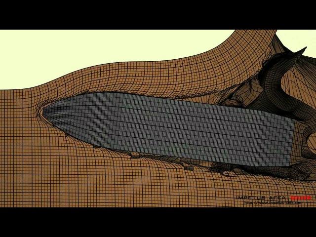 Конечноэлементное моделирование попадания бронебойной пули в алюминиевую бронеплиту
