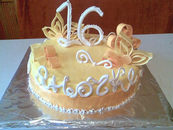 Торт на 16 лет картинки