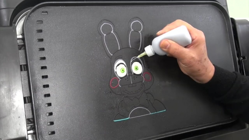 Making Five Nights at Freddy's Toy Bonnie PANCAKE | FNAF Animatronic Rabbit