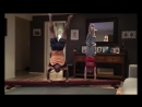 Отец копирует гимнастические упражнения дочери Видео приколы