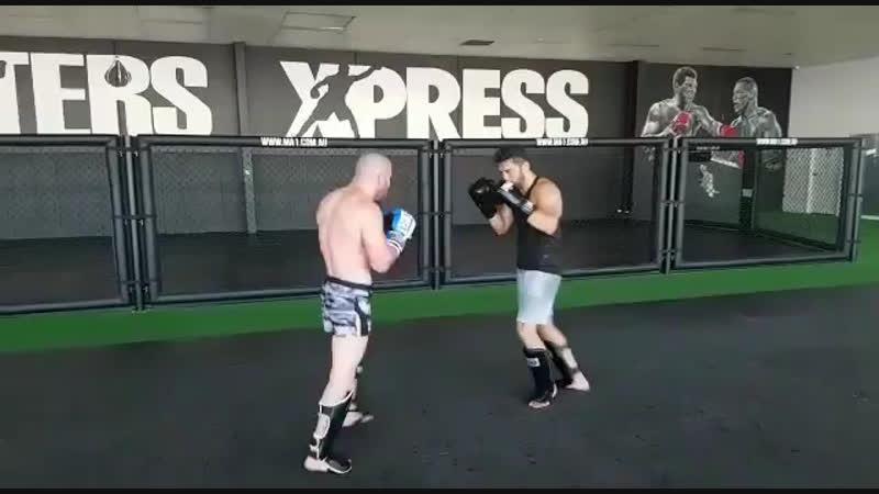 Джабар Аскеров на тренировке