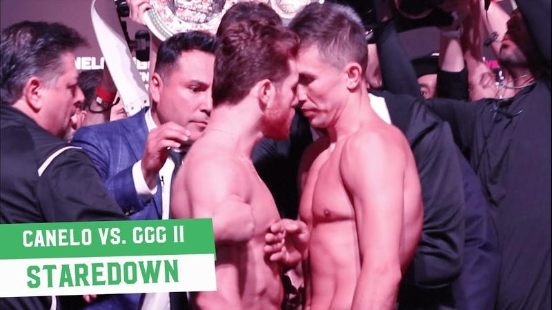 Canelo Alvarez vs. Gennady Golovkin    Weigh In Staredown