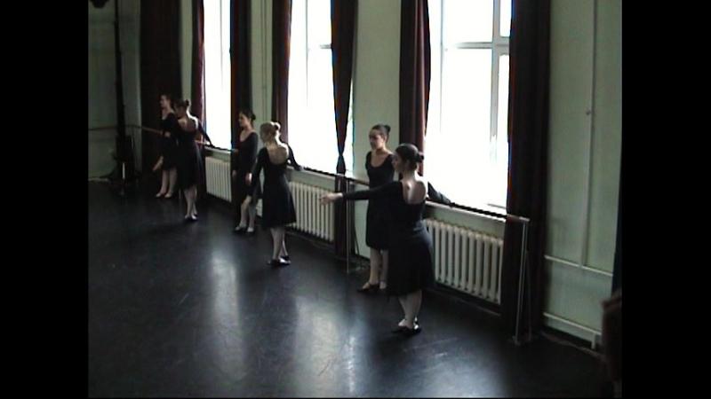 МГКИ Отделение Современный танец 2курс Экзамен по Народному танцу Станок июнь2018 Преподаватель Прусаков О В