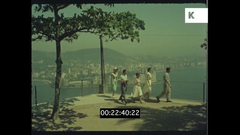 Romantic Holiday in Rio de Janeiro, Christ the Redeemer, 1960s, HD