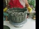 Incrível Vaso de Tecido e Cimento, Muito Fácil de Fazer!