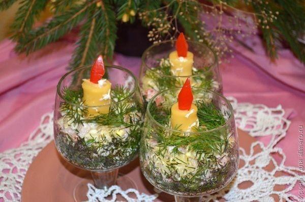 """Салат """"Новогодние свечи"""""""