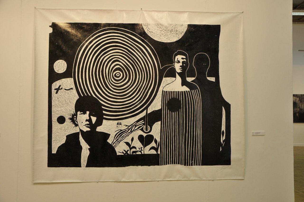 Союз художников Литвы  Тадас Гиндренас (р. 1979)  Большая мечта. 2009  Линогравюра