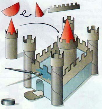 Как сделать замок из картона своими руками схемы