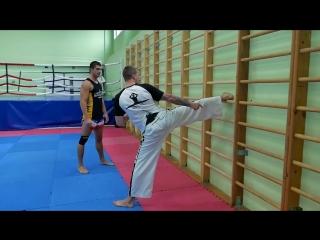 [Боевые ботаники] Бить как Ван Дамм! Вертушка в прыжке — крутой удар ногой из кино (Антон Шаманин и Виталий Дунец)