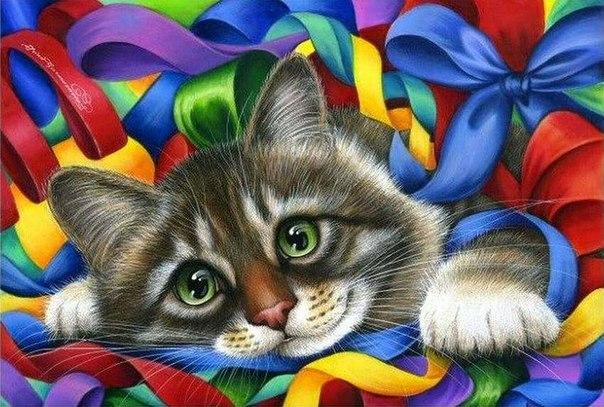 Милые коты от Ирины Гармашовой.