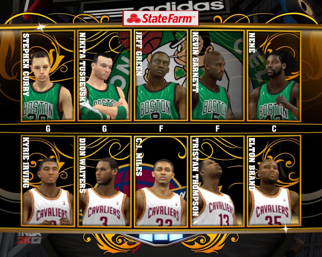 Стартовая пятерка Бостон Селтикс в НБА2к13