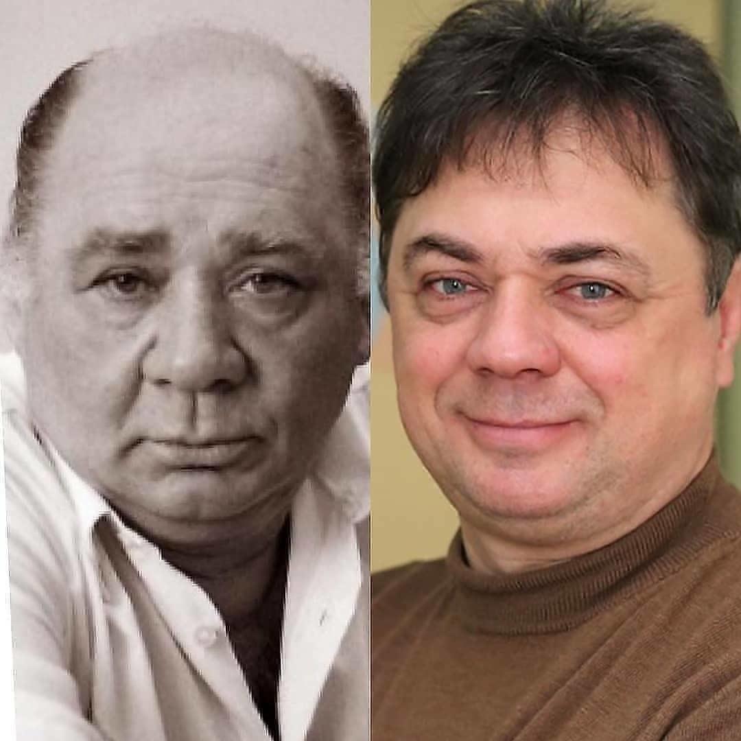 Отец и сын Леоновы. Ну как же они похожи? ????