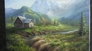 Oil Painting | Mountain Cabin | Landscape