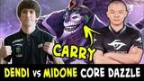 Dendi vs MidOne CARRY Dazzle battle