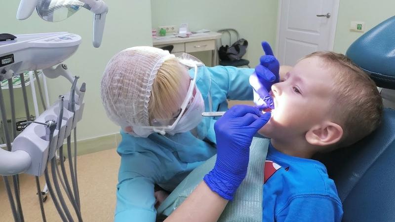Мой брат у стоматолога 😱 Лечение кариеса молочных зубов 😬 AOneCool