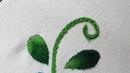 Bordado o puntada para hojas pequeñas 🍃