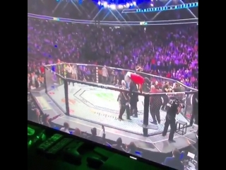 На Конора Макгрегора нападают сзади после боя против Хабиба Нурмагомедова (UFC 229)