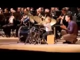 Little drummer boy of 3 years Orchestra Guide! Impressive!