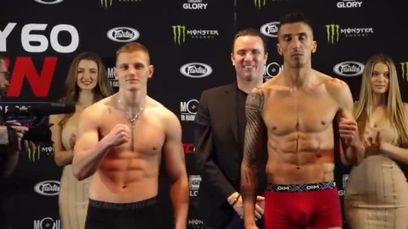 Взвешивание GLORY 60 Dmitry Menshikov vs Samuel Dbili