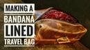 Making A Leather Dopp Kit Bag