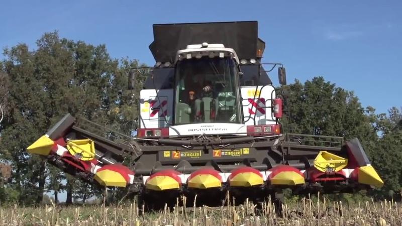 Уборка кукурузы в Германии ТОРУМ Кукурузная жатка ZIEGLER