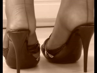 Dangling vintage nylon feet and sandals
