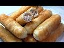 Трубочки с мясом Жареные пирожки Тесто для пирожков и пончиков
