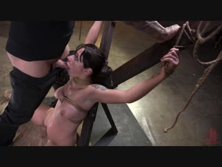 Petite pain slut violet monroe in rope bondage and brutal anal fucking [kink. anal, bdsm, bondage, h