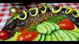 Фаршированная Горбуша, цыганка готовит. Как снять кожу с рыбы. Gipsy cuisine.