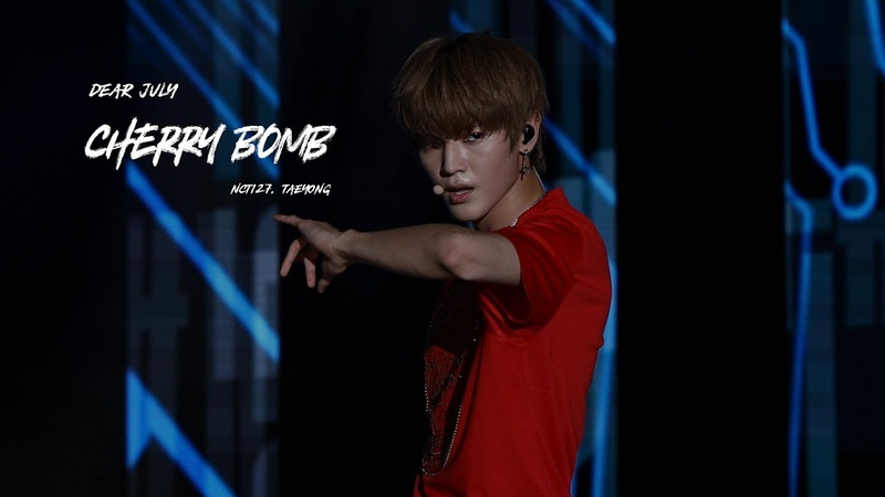 180723 ulsan Summer Festival NCT127 Cherry Bomb - TAEYONG focus
