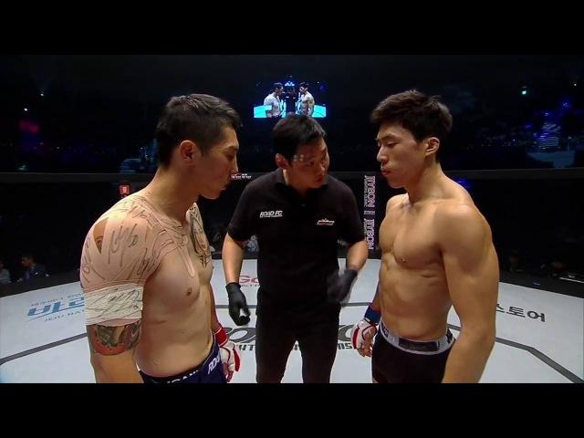 ROAD FC 033 3rd Lightweight Match Nandin Erdene(난딘 에르덴) VS Ki Won-Bin(기원빈)