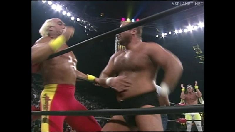 Hulk Hogan Bootyman vs Arn Anderson Kevin Sullivan, WCW Monday Nitro 01.04.1996