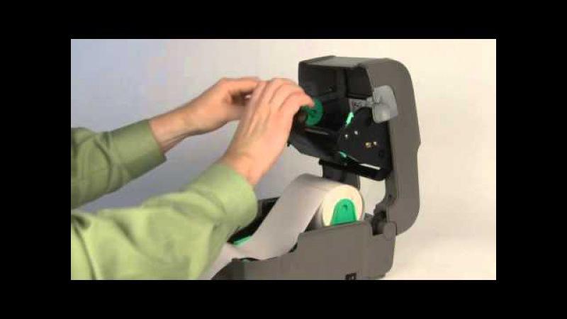 E-Class Mark III: Заправка ролика с красящей термонтрансферной лентой (риббоном)