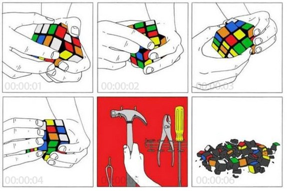 Кубик Рубика в картинках