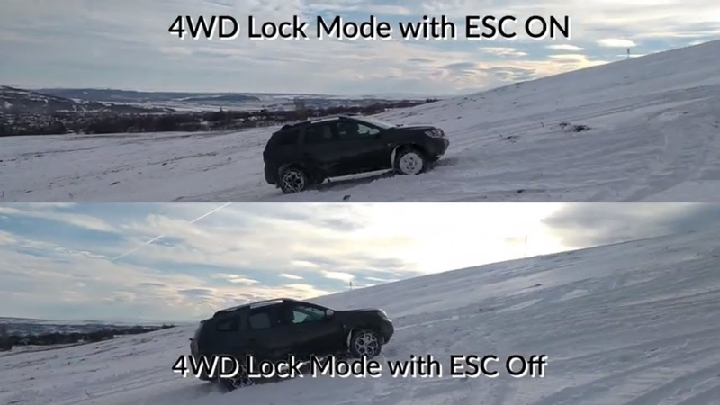 Duster 2018 Offroad 4WD ESC OnOff In Snow