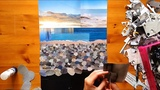Pebble Beach Paper Collage Time Lapse