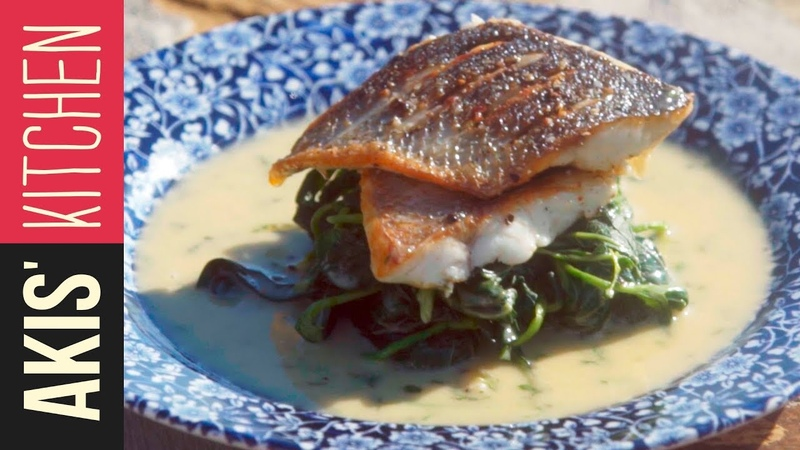 Sea bass with beurre blanc   Akis Kitchen