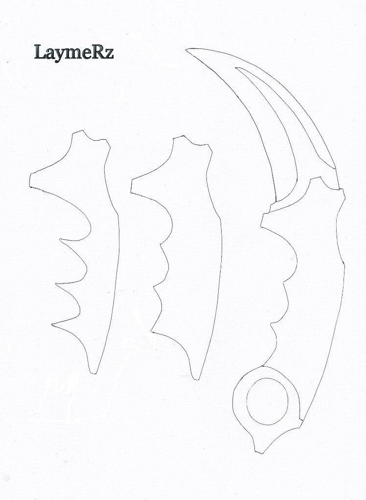 Как сделать нож из дерева чертежи фото 673