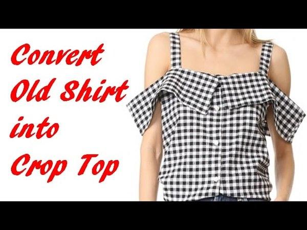 Convert Old Shirt into Trendy Crop Top, DIY Crop Top